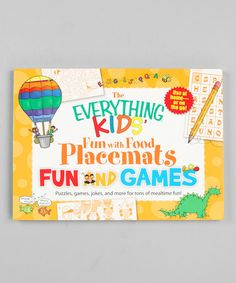Take a look at this Everything Kids' Fun With Food: Fun & Games Place Mats by World Publications on #zulily today!