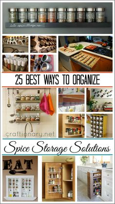 Best ways to organize spices. Make spice racks. Best ways to organize spices. Make spice racks. Organize spices in cabinet. Spice Storage, Spice Organization, Spice Racks, Kitchen Storage Solutions, Diy Kitchen Storage, Ideas Para Organizar, Cuisines Design, Organizing Your Home, Home Living