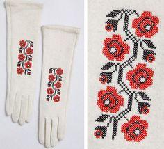 Ukrainian embroidered gloves