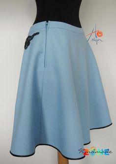 Fusta clos Coronita Waist Skirt, High Waisted Skirt, Handmade Skirts, Fashion, Crowns, Moda, High Waist Skirt, Fashion Styles, Fashion Illustrations