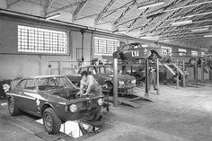 carlo chiti alfa | Autodelta-Werkshalle: Stammsitz von Autodelta waren Hallen in Settimo ...