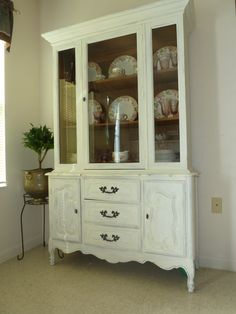 SOLD  French Country China Cabinet  Pick Your by ThePurpleChateau, $449.00