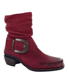 Take a look at this Red Tyler Boot - Women by Wolky on #zulily today!
