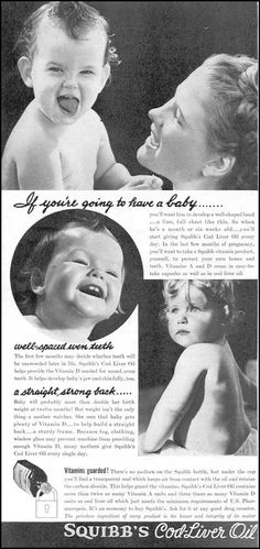 1940 advertisement for cod liver oil