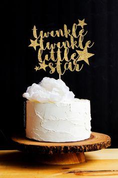 Twinkle Twinkle Little Star Cake Topper Baby Shower / Glitter Cake Topper…