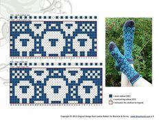Biscotte's Sheeps – Les moutons de Biscotte pattern by Louise Robert – The Best Ideas Fair Isle Knitting Patterns, Knitting Charts, Knitting Stitches, Knitting Designs, Knitting Socks, Free Knitting, Knitting Projects, Knitting Tutorials, Knitting Machine