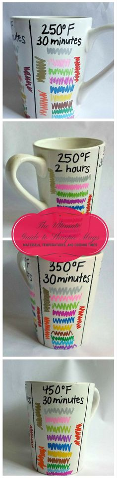 The BEST way to make a Sharpie mug: set the paint for little to no chipping and keep its vibrant color.