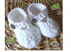 Chaussons de bébé au crochet + tuto