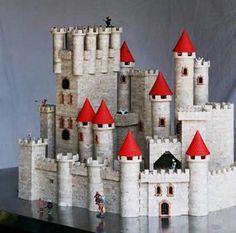-EXIN CASTILLOS.. Model Castle, Toy Castle, Chateau Fort Jouet, Plastic Soldier, Cardboard Castle, Toy 2, Paper Toys, Old Toys, Building Toys