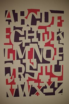 The negative space used in this piece makes this, simple alphabet, a really great example of how type as image can create pieces of art