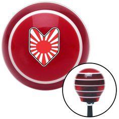 Wakaba Leaf Red Stripe Shift Knob with M16 x 15 Insert