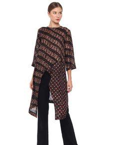 Blouse Batik Modern, Batik Muslim, Dress Batik Kombinasi, Outer Batik, Batik Fashion, Batik Dress, Muslim Fashion, Outerwear Women, Blouse Designs