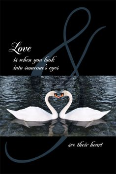 """""""Love is when you look into someone's eyes & see their heart"""" is the beautiful quote set in script for Chaz DeSimone's 2013 Valentines AmperArt edition. See the entire collection """"featuring the ampersand as fun & functional art"""" at AmperArt.com"""
