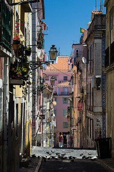 Bairro Alto - Lisboa. Portugal Sintra Portugal, Spain And Portugal, Algarve, Places Around The World, Around The Worlds, Lake Garda Italy, Portuguese Culture, Fantasy Island, World Cities