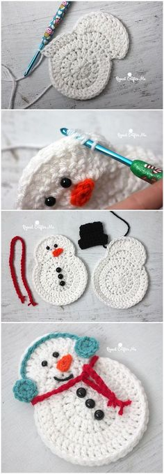 Crochet Snowman We are want to say thanks if you like to share this post to anot. Crochet Snowman We are want to say thanks if you like to share this post to another people via your Crochet Snowman, Christmas Crochet Patterns, Crochet Christmas Ornaments, Crochet Amigurumi, Holiday Crochet, Crochet Gifts, Crochet Toys, Knit Crochet, Crochet Santa