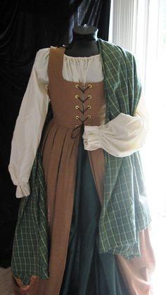 Celtic Renaissancce Dress and Wrap - Complete Outfit. $175.00, via Etsy.