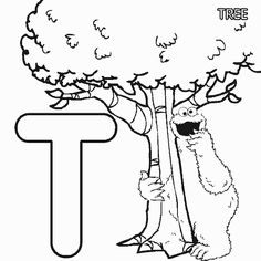 Abc Letter T Tree Sesame Street Cookie Coloring Pages 7 Com Coloring Page - Free Alphabets Coloring Pages Letter C Coloring Pages, Cool Coloring Pages, Animal Coloring Pages, Free Printable Coloring Pages, Coloring Books, Coloring Sheets, Dora Coloring, Frozen Coloring, Cat Coloring Page