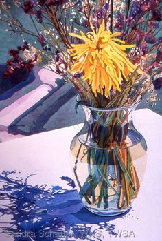 Watercolors by Sandra Schaffer, WHS, TWSA: Shadow Play