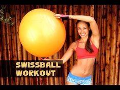 Gymnastikball Übungen / Swissball Workout / Übungen - Körper straffen - Erfolgreich Abnehmen - YouTube