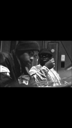 Hip Hop legends Nas and Biggie smalls