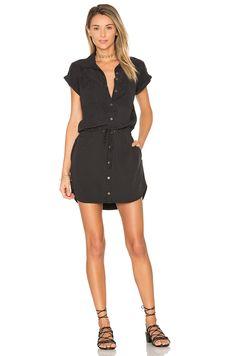 Paige Denim Mila Shirt Dress in Black
