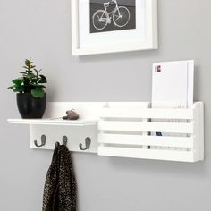 Wooden mail sorter with key rings do it yourself home for 7k innenarchitektur