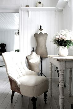 serene white Interior. Oddly, I find that spaces like this are a stimulating, creative environment.