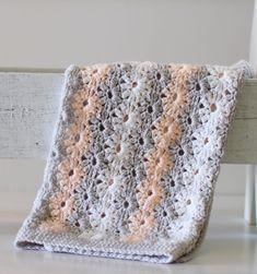 Crochet Petal Stitch Baby Blanket - Daisy Farm Crafts free pattern - New Ideas Crochet Afghans, Crochet Baby Blanket Free Pattern, Crochet Square Patterns, Crochet Stitches, Free Crochet, Crochet Blankets, Baby Blankets, Crochet Squares, Crochet Daisy
