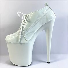 Women's Heels Stiletto Heel Round Toe Party PU Solid Colored White Black 2021 - US $117.59