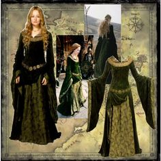 Eowyn's Green Gown (Lord of the Rings: The Two Towers) by tiffycuss on Polyvore