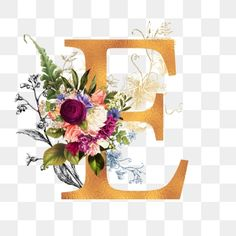 Flower Png Images, Alphabet, Logo Image, Flower Graphic, Floral Letters, Lettering Design, Watercolor Flowers, Flower Decorations, Floral Wreath