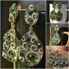 Premium Quality Antique toned leaves with delicate inlay of Green and Transparent Rhinestones Item Code: D0074 Price: Rs. 390 For your orders and queries, Inbox us or click this link https://www.facebook.com/messages/JewelryGalaPakistan We provide cash on delivery services all over Pakistan