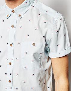 Imagen 3 de Camisa de manga corta con estampado Spectrum de ASOS