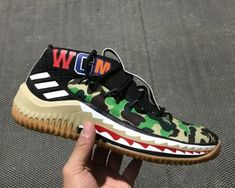 fb33b3d3d2875 Cheap Priced 2018 Bape x adidas Dame 4 Green Camo For Sale