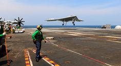 Newsela | New computer-piloted drone successfully lands itself on aircraft carrier