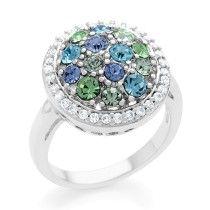 Tri-Color Cubic Zirconia Fashion Ring
