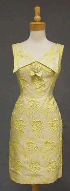 Yellow & Silver 1960's Cocktail Dress