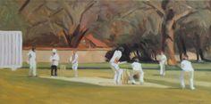 Iain Vellacott, Cricket Painting Cricket Games, Play N Go, Illustration, Artworks, Painting, Sport, People, Ideas, Deporte