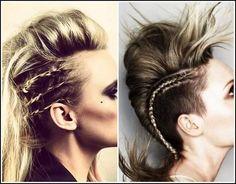 Die 26 Besten Bilder Von Rockige Frisur Shaved Hair Hairstyle