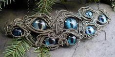 Gothic Steampunk Evil Eye Necklace in Sable by twistedsisterarts, $699.95. Never to be outdone, the one, the only Twistedsisterarts!