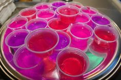 Hot Pink Alcoholic Drinks | pink # shots # alcohol # jello shots