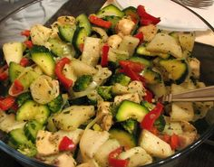 Roasted Chicken with Red Potatoes and Asparagus Pasta Salad, Cobb Salad, Hungarian Recipes, Hungarian Food, Dinner Is Served, Roasted Chicken, Clean Eating Recipes, Asparagus, Potato Salad