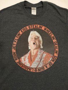61e58373 Details about Ric Flair Limousine Ridin Jet Flyin Kiss Stealin Wrestling  WWE T-Shirt