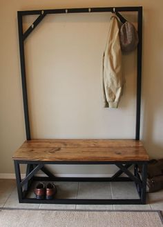 Just what we need in our sunroom! James+James coatrack bench. #PinItToWinIt #James+James
