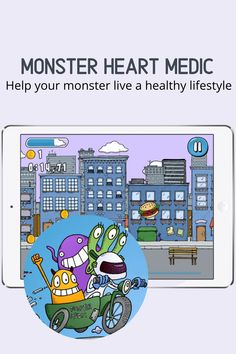 Students explore the cardiovascular system and how healthy living affects it. In this educational adventure, students must help diagnose a friendly, three-eyed monster and assist him on his path to a healthier life. Available in English and Spanish. You Monster, Learning Resources, Middle School, Healthy Living, Spanish, Medical, Science, App, Activities