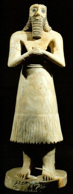 Estatueta do deus Abu, III milênio a.C., Museu do Iraque, Bagdá.