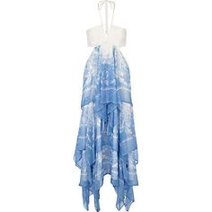 Jubilee -  BLUE CHIFFON CUT OUT MAXI DRESS from River Island