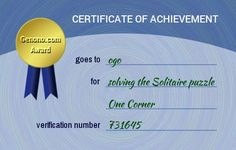 twiiiii has done the One Corner problem of the Genono Solitaire. Do you think you can do it too? Certificate Of Achievement, You Can Do, The Book, Thinking Of You, Puzzle, Personal Care, Books, Corner, Thinking About You