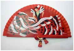 Abanico Bailaora Rojo Hand Held Fan, Hand Fan, Fan Decoration, Fans, Design, Pretty, Hand Fans, Painted Fan, Fascinators