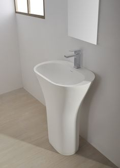 Description:Pedestal basin Material:Solid Surfaces white matt Model:SolidAIR x 420 x 8300 ( h) mm *Pop-up not included